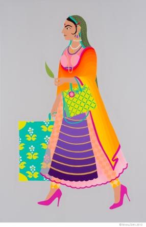 Meera Sethi, Mariam Maharaj (Mary), (Foreign Returned series), 2013, acrylic on canvas, 122 x 183 cm