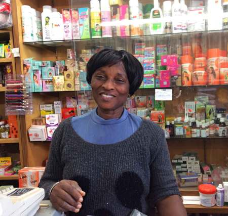 The owner's mom at African Groceries